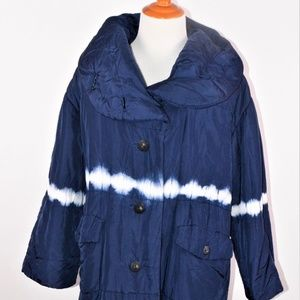 Issey Miyake Vintage Oversize Tie Dye Puffer Coat